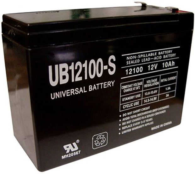 UPG Sealed Lead Acid AGM: UB12100-S, 10 AH, 12V