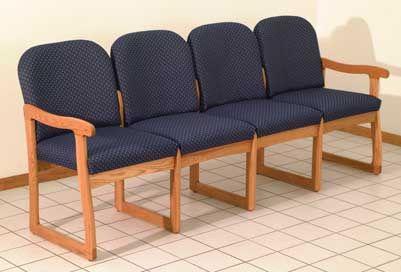 Wooden Mallet™ Prairie Four Seat Sofa: Sled Base
