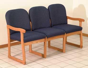 Wooden Mallet™ Prairie Three Seat Sofa: Sled Base