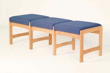 Wooden Mallet™ Three Seat Bench: Standard Fabrics/Vinyl
