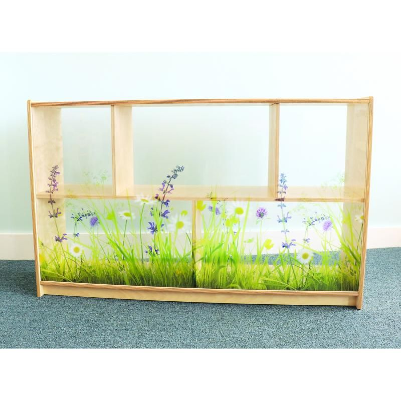 Nature View Acrylic Back Cabinet 30h