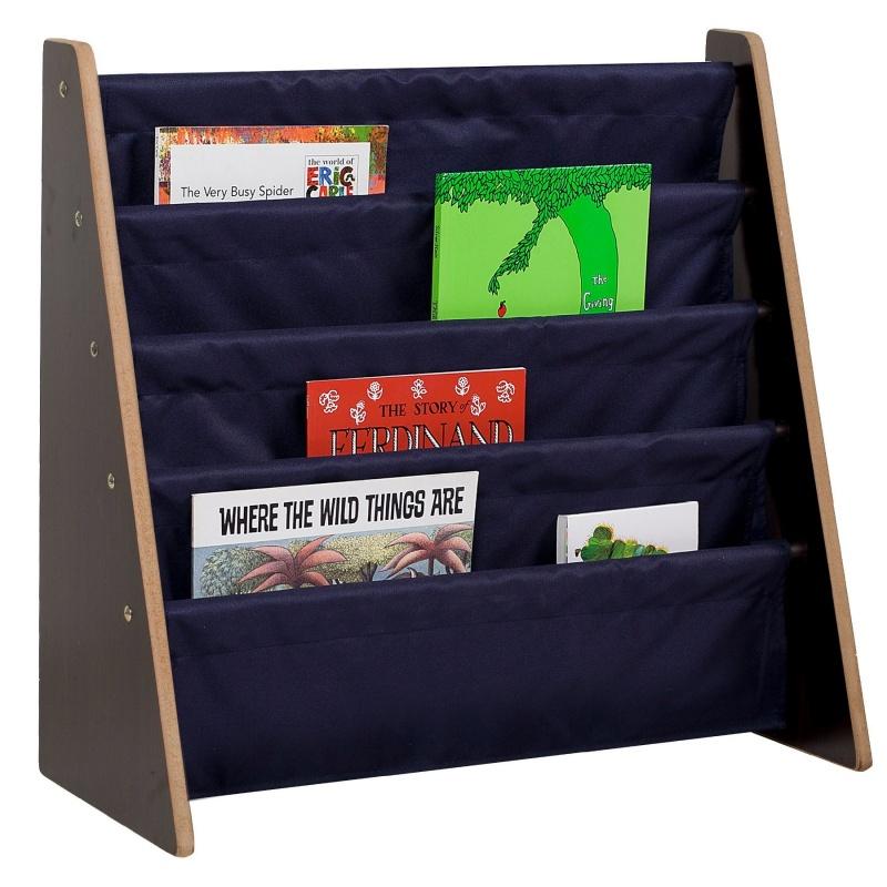 Sling Book Shelf - Espresso W/ Blue