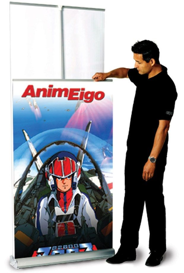 MagicPak Doublesided Banner: with Retractable Banner Stand and Nylon Travel Bag