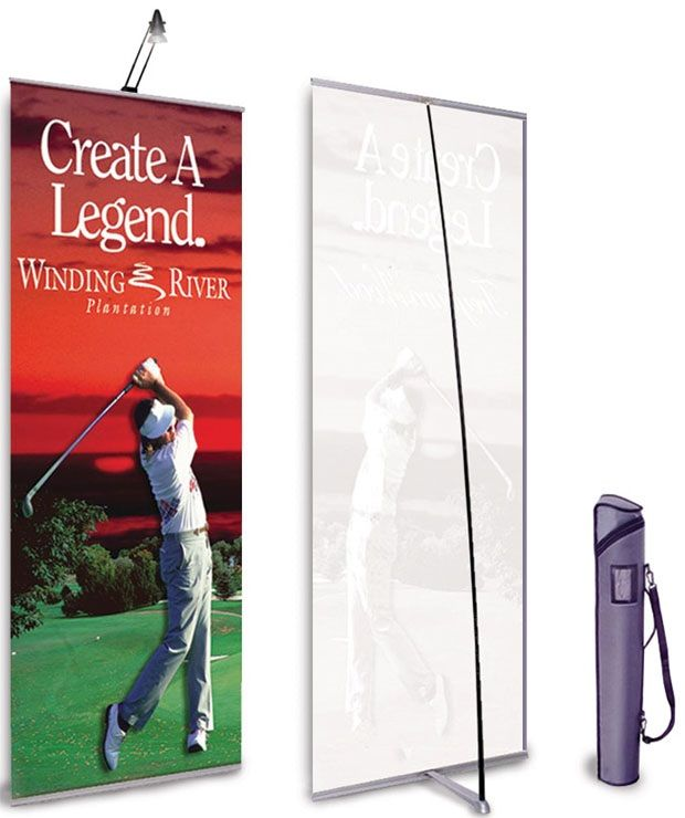 """MagicPak Banner Stand: 31.5"""" x 86.5"""", With Client Graphic"""