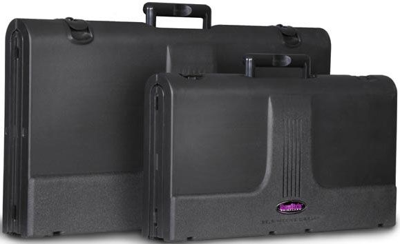 ShowStyle Briefcase Tabletop Display: Silver Fabric