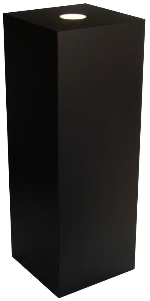 "Xylem Black Laminate Spot Lighted Pedestal: 15"" x 15"" Size"