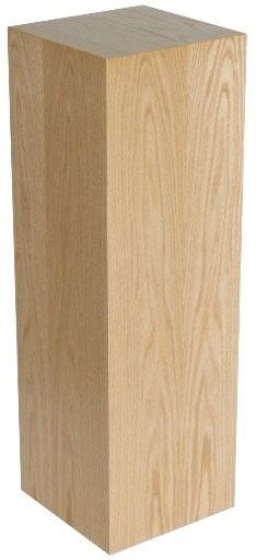"""Xylem Oak Wood Veneer Pedestal: 15"""" X 15"""" Size"""